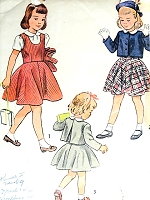 1940s SWEET Little Girls Blouse, Jumper and Bolero Jacket Pattern SIMPLICITY 2948 Adorable Styles Childs Size 6 Vintage Childrens Sewing Pattern
