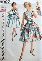 1950s LOVELY Dress, Jacket and Belt Simplicity 3007 Bust 38 Vintage Sewing Pattern