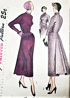 1940s STUNNING Evening Dinner Party Dress Pattern SIMPLICITY 3038 High Couture Design Details Bust 32 Vintage Sewing Pattern FACTORY FOLDED