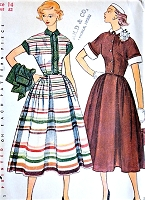 1950s FAB Rockabilly Full Skirt Dress, Jacket and Detachable Collar n Cuffs Pattern SIMPLICITY 3436 Bust 32 Vintage Sewing Pattern FACTORY FOLDED