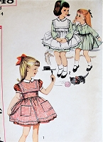 1960s CHARMING Little Girls Dress and Pinafore Pattern SIMPLICITY 3648 So Sweet Size 4 Childrens Vintage Sewing Pattern