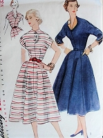 Vintage 1950s ELEGANT Dress in Two Styles Simplicity 3947 Sewing Pattern Bust 34