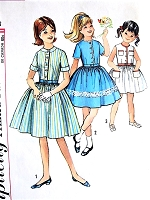 1960s PRETTY Girls Dress Pattern SIMPLICITY 4869 Three Sweet Styles Size 8 Childrens Vintage Sewing Pattern