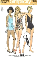 1970s RETRO Bathing Suits Pattern SIMPLICITY 5027 Three Swimsuit Styles, Beachwear, Bust 32 Vintage Sewing Pattern
