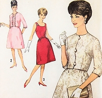 1960s CLASSY Evening Dress and Jacket Pattern SIMPLICITY 5189 Cocktail Party Dress Bust 31 Vintage Sewing Pattern FACTORY FOLDED
