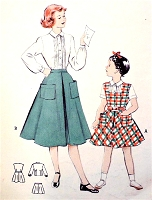 1950s CUTE Little Girls Skirt, Blouse and Jumper Pattern BUTTERICK 5816 Sweet Styles Size 6 Vintage Sewing Pattern UNCUT