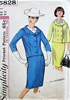 1960s STYLISH Vintage Suit Simplicity 5828 Bust 36 Sewing Pattern
