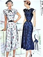 1940s FLATTERING Bias Cut Dress Pattern McCALL 7290 Two Pretty Versions Bust 32 Vintage Sewing Pattern FACTORY FOLDED