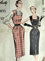 1940s Vintage SOPHISTICATED Evening Dress, Jumper, Blouse Simplicity 8338 Sewing Pattern Bust 34