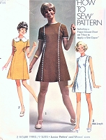 1960s MOD How To Sew Mini Princess Seam Dress Pattern SIMPLICITY 8612 Bust 32 Vintage Sewing Pattern UNCUT
