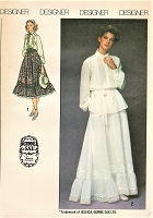1970s ROMANTIC Boho Gunne Sax Blouse and Skirt Pattern SIMPLICITY 8907 Overblouse or Tuck In, Tiered Skirt Includes Maxi Length, Prairie Wedding Dress Bust 30 Vintage Sewing Pattern FACTORY FOLDED