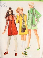 1970s CHARMING Mini-Dress, Vest-Coat, and Scarf Vintage Simplicity 8931 Sewing Pattern Bust 32