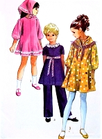 1970s CUTE Little Girls Dress,Pants and Scarf Pattern SIMPLICITY 9188 Size 10 Vintage Childrens Sewing Pattern UNCUT