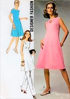 1970s FAB Designer Dress or Tunic and Pants Pattern SIMPLICITY 9346 Daytime or Evening Bust 34 Vintage Sewing Pattern FACTORY FOLDED