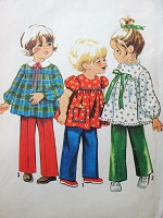 1960s Vintage CUTE Toddler Blouse and Pants in Three Styles Simplicity 9641 Sewing Pattern Chest 20