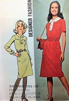 RETRO 70s Slim Designer Dress Pattern SIMPLICITY 9658 Casual Day Dress Bust 36 Vintage Sewing Pattern UNCUT