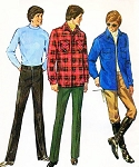 1970s SIMPLICITY 9694 Mens Shirt Jacket and Straight Pants Pattern American Hustle Styles Chest 42 Vintage Sewing Pattern