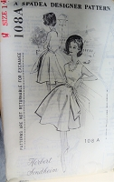 BEAUTIFUL 1960s Herbert Sondheim Party Dress Pattern SPADEA 108A Figure Flattery Easy To Sew Bust 36 Vintage Sewing Pattern