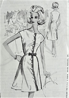 1960s STYLISH Front Button Dress Pattern Anthony Blotta for SPADEA Designer 113 Easy Class Daytime or After 5 Bust 37 Vintage Sewing Pattern FACTORY FOLDED