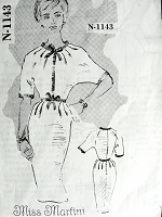 1950s Slim Day or After 5 Dress Pattern SPADEA American Designer 1143 Miss Martini Wiggle Dress Bust 36 Vintage Sewing Pattern