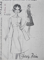 1960s FAB Harvey Berin Dress Pattern SPADEA 1252 Lovely Flared Mod Dress Day or After 5 Bust 36 Vintage Sewing Pattern FACTORY FOLDED