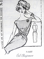 1960s STUNNING Ceil Chapman Sheath Cocktail Evening Party Dress Pattern SPADEA Designer 1257 Glamorous Dress Bust 35 Vintage Sewing Pattern