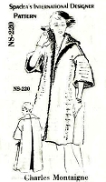 1950s LUXURIOUS Designer Coat Pattern SPADEA 220 Charles Montaigne Wide Collar Coat Day or Evening Bust 38-40 Vintage Sewing Pattern