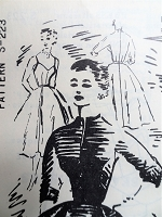 1950s Parisian Chic Evening Party Dress Pattern SPADEA 223 Designer Nancy Layton Beautifully Fitted Bare Top Bodice Full Skirt,Short Fitted Jacket Stunning Design Bust 36 Vintage Sewing Pattern