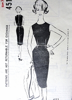 1960s CLASSY Day into Evening Sheath Pattern SPADEA 451 Designer Dinah Shore Travel Wardrobe Collection Bust 35 Vintage Sewing Pattern