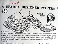 1960s BEAUTIFUL Cut Work or Lace Cape Collar Pattern SPADEA 456 Designer Dinah Shore Wardrobe Collection Wear With Sheath Dress Spadea 451 Vintage Sewing Pattern FACTORY FOLDED