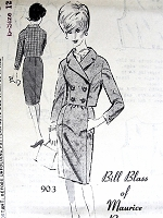 1960s CLASSY Bill Blass Jacket Pattern SPADEA 903 Nifty Double Breasted Military Style Short Jacket Bust 35 Vintage Sewing Pattern FACTORY FOLDED