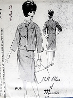 1960s BILL BLASS Elegant Suit Pattern SPADEA 904 Slim Skirt, Short Jacket With Shaped Princess Seams Bust 35 Vintage Sewing Pattern FACTORY FOLDED