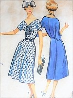 Vintage 1950s BEAUTIFUL Ruched Bodice Dress McCalls 4594 Sewing Pattern Bust 39
