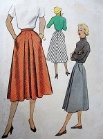 1950s Vintage SOPHISTICATED Skirt with Pockets McCalls 9098 Sewing Pattern Waist 28