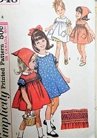 CHARMING 1960s Little Girls Dress,Pinafore and Scarf Pattern SIMPLICITY 5948 Sweet Styles Includes SMOCKINg Transfer Size 4 Childrens Vintage Sewing Pattern