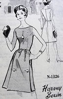 1960s Vintage CHIC Sleeveless Dress with Pockets and Button Details Harvey Berin Design Spadea 1126 Sewing Pattern Bust 35