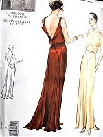 1930s VOGUE Vintage Model 2241 Out of Print Glamorous Art Deco Era Slinky Evening Gown Sewing Pattern Bust 40, Factory Folded Uncut