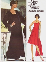 1970s FAB Carol Horn Dress and Jacket Pattern VOGUE Americana 1031 Very Easy Shaped Loose Fitting Jacket and Loose Fitting Flared Dress Day or Evening Bust 34 Vintage Sewing Pattern