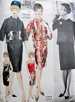 1960s STUNNING Fabiani Suit and Blouse Pattern VOGUE Couturier Design 1091Beautiful Slim Skirt Suit with Lovely Jacket and Camisole Blouse Bust 34 Vintage Sewing Pattern FACTORY FOLDED