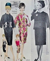 1960s ELEGANT Fabiani Suit and Blouse Pattern VOGUE Couturier Design 1091 Slim Skirt, Boxy Jacket and Button Back Camisole Blouse Day or Evening Cocktail Party Suit Bust 34 Vintage Sewing Pattern FACTORY FOLDED