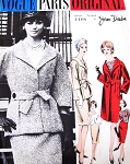 1960s ELEGANT Jean Desses Suit, Blouse and Coat Pattern VOGUE PARIS Original 1108  Day or After 5 Easy Elegance Bust 34 Vintage Sewing Pattern