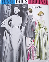 60s Nina RICCI Elegant Evening Gown Cocktail Dress, Stole Pattern VOGUE Paris Original 1157 Stunning Design B 36 Vintage Sewing Pattern UNCUT