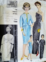 1960s STUNNING Fabiani Evening Dress and Jacket Pattern VOGUE Couturier Design 1188 Strapless or 1 Shoulder Versions Pure Elegance Bust 32 Vintage Sewing Pattern FF