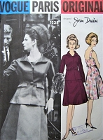 1960s FABULOUS Jean Desses Cocktail Party Evening Dress and Jacket Pattern VOGUE Paris Original 1238 Stunning Design Bust 32 Vintage Sewing Pattern FACTORY FOLDED