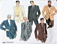 Vintage DAPPER Gentlemens Jacket Pattern VOGUE Basic Design 1269 Single or Double Breasted Jackets Casual Sports or Formal Chest 42 Vintage Mens Sewing Pattern FACTORY FOLDED