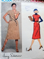 1970s CLASSY Jerry Silverman Dress or Jumper Pattern VOGUE American Designer 1401 Perfect For Ultra Suede Bust 32 Vintage Sewing Pattern