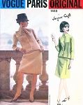 1960s CHIC Jacques Griffe Suit Pattern VOGUE PARIS Original 1455  Jacket and Skirt with Scarf Bust 32 Vintage Sewing Pattern  + Label