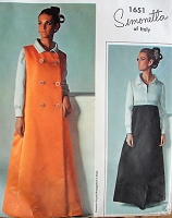 1960s Vintage HAUTE Couture Dress and Coat Vogue Couturier 1651 Bust 38 Sewing Pattern