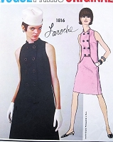 1960s MOD Laroche Shift Dress Pattern VOGUE PARIS Original 1816 Perfect Day or Cocktail Evening Dress Bust 34 Vintage Couture Sewing Pattern FACTORY FOLDED +Label
