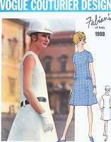 1960s MOD Fabiani A Line Dress Pattern VOGUE COUTURIER Design 1969 Easy Day or After 5 Dress  Bust 36 Vintage Couture Sewing Pattern FACTORY FOLDED